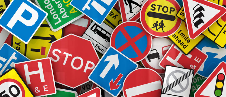 The Driving Theory Test - Montage of Lots of Different Road Signs